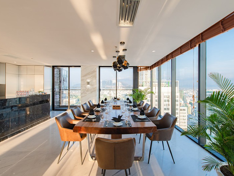 Thi Công Nội Thất Tại Hà Nội Căn Hộ Penthouse Với Đá Cẩm Thạch